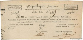 Country : FRANCE  Face Value : 20 Francs  Date : 01 janvier 1720  Period/Province/Bank : Assignats  Catalogue reference : Laf.212  Additional referenc...