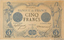 Country : FRANCE  Face Value : 5 Francs NOIR  Date : 15 mai 1873  Period/Province/Bank : Banque de France, XXe siècle  Catalogue reference : F.01.18  ...
