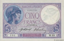 Country : FRANCE  Face Value : 5 Francs VIOLET  Date : 05 décembre 1917  Period/Province/Bank : Banque de France, XXe siècle  Catalogue reference : F....
