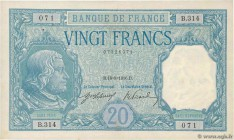 Country : FRANCE  Face Value : 20 Francs BAYARD  Date : 18 août 1916  Period/Province/Bank : Banque de France, XXe siècle  Catalogue reference : F.11....
