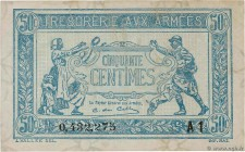 Country : FRANCE  Face Value : 50 Centimes TRÉSORERIE AUX ARMÉES 1919  Date : 1919  Period/Province/Bank : Trésor  Catalogue reference : VF.02.10  Add...