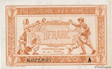 Country : FRANCE  Face Value : 1 Franc TRÉSORERIE AUX ARMÉES 1917  Date : 1917  Period/Province/Bank : Trésor  Catalogue reference : VF.03.01  Additio...