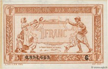 Country : FRANCE  Face Value : 1 Franc TRÉSORERIE AUX ARMÉES 1917  Date : 1917  Period/Province/Bank : Trésor  Catalogue reference : VF.03.07  Additio...