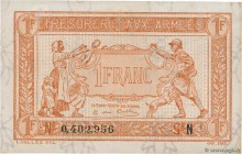 Country : FRANCE  Face Value : 1 Franc TRÉSORERIE AUX ARMÉES 1919  Date : 1919  Period/Province/Bank : Trésor  Catalogue reference : VF.04.01  Additio...