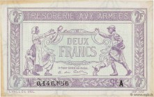 Country : FRANCE  Face Value : 2 Francs TRÉSORERIE AUX ARMÉES  Date : 1917  Period/Province/Bank : Trésor  Catalogue reference : VF.05.01  Additional ...