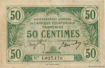 Country : FRENCH EQUATORIAL AFRICA  Face Value : 50 Centimes  Date : (17 octobre 1917)  Period/Province/Bank : Gouvernement Général de l'AEF, nécessit...
