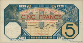 Country : FRENCH WEST AFRICA (1895-1958)  Face Value : 5 Francs  Date : 16 février 1904  Period/Province/Bank : Banque de l'Afrique Occidentale  Catal...