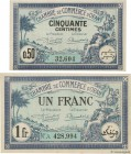 Country : ALGERIA  Face Value : 50 Centimes et 1 Franc  Date : 11 avril 1923  Period/Province/Bank : Nécessités, Chambres de Commerce  French City : O...