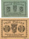 Country : ALGERIA  Face Value : 5 et 10 Centimes  Date : 24 octobre 1916  Period/Province/Bank : Émissions Locales  French City : Alger  Catalogue ref...
