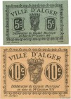 Country : ALGERIA  Face Value : 5 et 10 Centimes  Date : 24 octobre 1916  Period/Province/Bank : Émissions Locales  Department : Alégérie  French City...