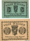 Country : ALGERIA  Face Value : 5 et 10 Centimes  Date : 09 mars 1917  Period/Province/Bank : Émissions Locales  Department : Algérie  French City : A...