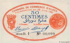 Country : ALGERIA  Face Value : 50 Centimes  Date : 22 juin 1921  Period/Province/Bank : Nécessités, Chambres de Commerce  Department : Algérie  Frenc...