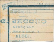 Country : ALGERIA  Face Value : 15 Centimes  Date : 15 août 1915  Period/Province/Bank : Émissions Locales  Department : Algérie  French City : Alger ...