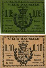 Country : ALGERIA  Face Value : 5 et 10 Centimes  Date : 22 septembre 1917  Period/Province/Bank : Émissions Locales  French City : Aumale  Catalogue ...