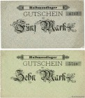 Country : GERMANY  Face Value : 5 et 10 Marks  Date : (1916)  Period/Province/Bank : Camps de prisonniers  Department : Halbmondlager  French City : W...