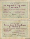 Country : BELGIUM  Face Value : 5 Francs  Date : 18 août 1914  Period/Province/Bank : Émission de nécessité  French City : Liège  Catalogue reference ...