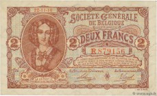 Country : BELGIUM  Face Value : 2 Francs  Date : 22 novembre 1916  Period/Province/Bank : Société Générale de Belgique  Catalogue reference : P.87  Al...