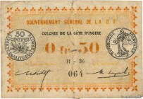 Country : IVORY COAST  Face Value : 50 Centimes  Date : 11 février 1917  Period/Province/Bank : Gouvernement Général de l'A.O.F.  Catalogue reference ...