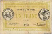 Country : IVORY COAST  Face Value : 1 Franc  Date : 11 février 1917  Period/Province/Bank : Gouvernement Général de l'A.O.F.  Catalogue reference : P....