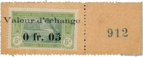 Country : IVORY COAST  Face Value : 5 Centimes  Date : (1920)  Period/Province/Bank : Timbre Monnaie  Catalogue reference : P.4  Additional reference ...