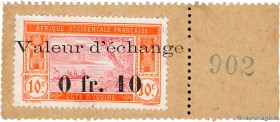 Country : IVORY COAST  Face Value : 10 Centimes  Date : (1920)  Period/Province/Bank : Timbre Monnaie  Catalogue reference : P.5  Additional reference...