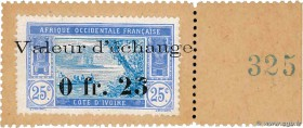Country : IVORY COAST  Face Value : 25 Centimes  Date : (1920)  Period/Province/Bank : Timbre Monnaie  Catalogue reference : P.6  Additional reference...