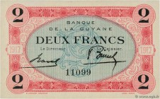 Country : FRENCH GUIANA  Face Value : 2 Francs  Date : (1917)  Period/Province/Bank : Banque de la Guyane  Catalogue reference : P.6  Additional refer...