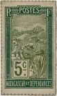 Country : MADAGASCAR  Face Value : 5 Centimes Zébu  Date : (1916)  Period/Province/Bank : Timbre Monnaie  Catalogue reference : P.16  Additional refer...