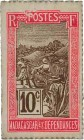 Country : MADAGASCAR  Face Value : 10 Centimes Zébu  Date : (1916)  Period/Province/Bank : Timbre Monnaie  Catalogue reference : P.17  Additional refe...