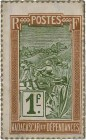 Country : MADAGASCAR  Face Value : 1 Franc Zébu  Date : (1916)  Period/Province/Bank : Timbre Monnaie  Catalogue reference : P.20  Additional referenc...