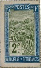 Country : MADAGASCAR  Face Value : 2 Francs Zébu  Date : (1916)  Period/Province/Bank : Timbre Monnaie  Catalogue reference : P.21  Additional referen...