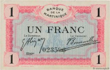 Country : MARTINIQUE  Face Value : 1 Franc  Date : (1915-1919)  Period/Province/Bank : Banque de la Martinique  Catalogue reference : P.10  Additional...