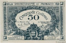 Country : MONACO  Face Value : 50 Centimes  Date : 1920  Period/Province/Bank : Principauté de Monaco  Catalogue reference : P.3  Alphabet - signature...