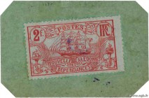 Country : NEW CALEDONIA  Face Value : 2 Francs  Date : (1914)  Period/Province/Bank : Timbre Monnaie  Catalogue reference : P.27  Additional reference...