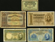 A Large Mixed Lot of 90 Examples from Austria, Bulgaria, and the Ukraine Very Good-About Uncirculated. Includes 79 examples of the 10,000 Kronen.  HID...