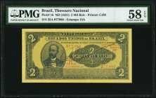 Brazil Thesouro Nacional 2 Mil Reis ND (1921) Pick 16 PMG Choice About Unc 58 EPQ.   HID09801242017