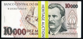 Brazil Banco Central Do Brasil 10,000 Cruzeiros ND (1993) Pick 233c 96 Examples Choice Crisp Uncirculated.   HID09801242017