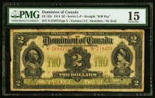 Canada Dominion of Canada 2 Dollars 1914 DC-22c PMG Choice Fine 15.   HID09801242017
