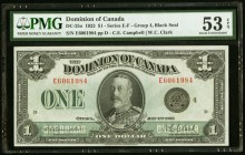 Canada Dominion of Canada 1 Dollar 2.7.1923 DC-25o PMG About Uncirculated 53 EPQ.   HID09801242017