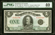 Canada Dominion of Canada 1 Dollar 2.7.1923 PMG Extremely Fine 40.   HID09801242017