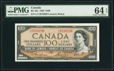 Canada Bank of Canada 100 Dollars 1954 BC-43c PMG Choice Uncirculated 64 EPQ.   HID09801242017
