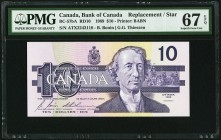 Canada Bank of Canada 10 Dollars 1989 BC-57bA Replacement PMG Superb Gem Unc 67 EPQ.   HID09801242017