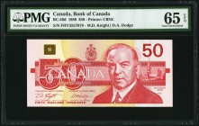 Canada Bank of Canada 50 Dollars 1988 BC-59d PMG Gem Uncirculated 65 EPQ.   HID09801242017