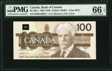 Canada Bank of Canada 100 Dollars 1988 BC-60a-i PMG Gem Uncirculated 66 EPQ.   HID09801242017