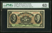 Canada Bank of Nova Scotia 5 Dollars 2.1.1935 Ch.# 550-36-02 PMG Choice Uncirculated 63 EPQ.   HID09801242017