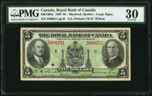 Canada Royal Bank of Canada 5 Dollars 2.1.1935 Ch. # 630-18-02a PMG Very Fine 30.   HID09801242017