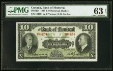 Canada Bank of Montreal 10 Dollars 3.1.1938 Ch.# 505-62-04 PMG Choice Uncirculated 63 EPQ.   HID09801242017