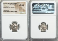 MACEDONIAN KINGDOM. Alexander III the Great (336-323 BC). AR drachm (17mm, 9h). NGC Choice XF. Posthumous issue of Lampsacus, ca. 310-301 BC. Head of ...