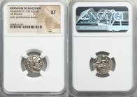 MACEDONIAN KINGDOM. Alexander III the Great (336-323 BC). AR drachm (18mm, 12h). NGC XF. Posthumous issue of 'Colophon', ca. 319-310 BC. Head of Herac...