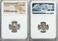 MACEDONIAN KINGDOM. Philip III Arrhidaeus (323-317 BC). AR drachm (17mm, 11h). NGC Choice XF. Magnesia ad Maeandrum. Head of Heracles right in lion-sk...
